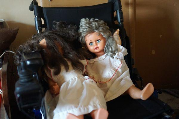 K.'s dolls in wheelchair thumbnail
