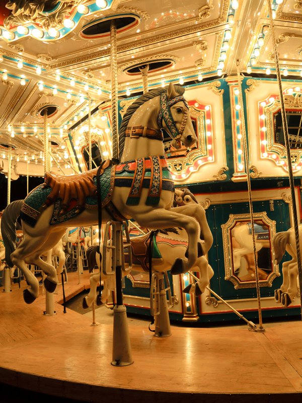 A carousel at night thumbnail