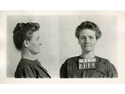 Dr. Linda Hazzard's Washington State Penitentiary mug shots.