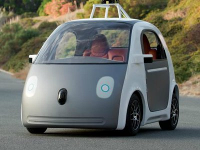 Google's driverless car prototype. Is this the cab of the future?