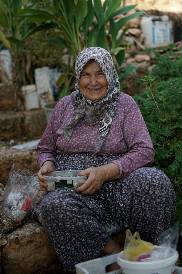 An oldwoman in the town of Kekova thumbnail