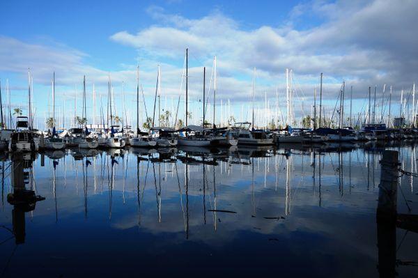 Sailing yachts on the water. thumbnail