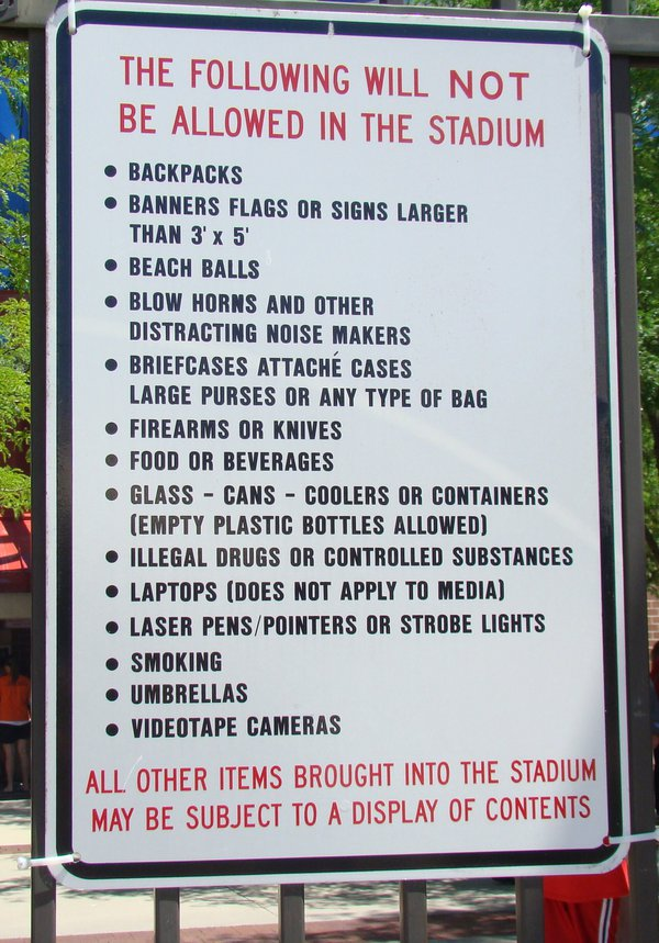 What you can and can't do at the stadium at the College World Series. thumbnail