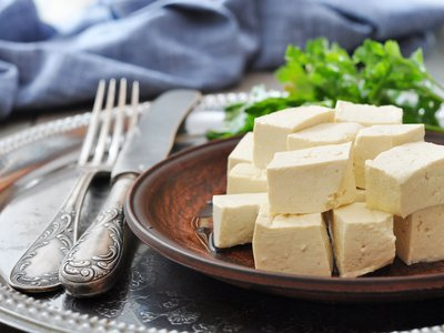 """In a letter of 1770, Benjamin Franklin described tofu (""""tau-fu"""") to his friend John Bartram as a sort of cheese made from """"Chinese Garavances""""—what we would call soybeans."""
