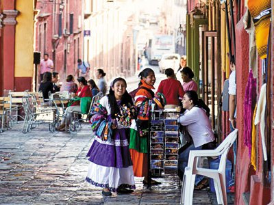 Renowned as an art colony, San Miguel also mounts festivals showcasing indigenous cultures.