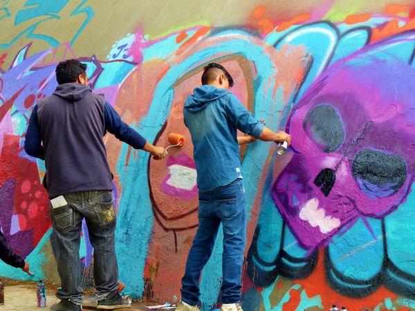 Graffiti mural in a Quito park thumbnail