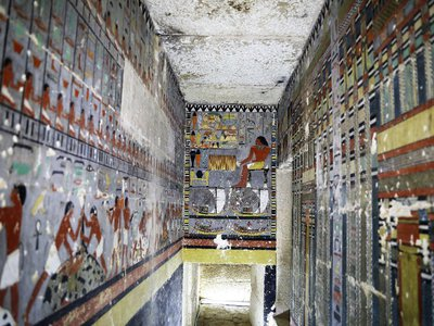 Researchers discovered Khuwy's richly painted tomb in 2019.