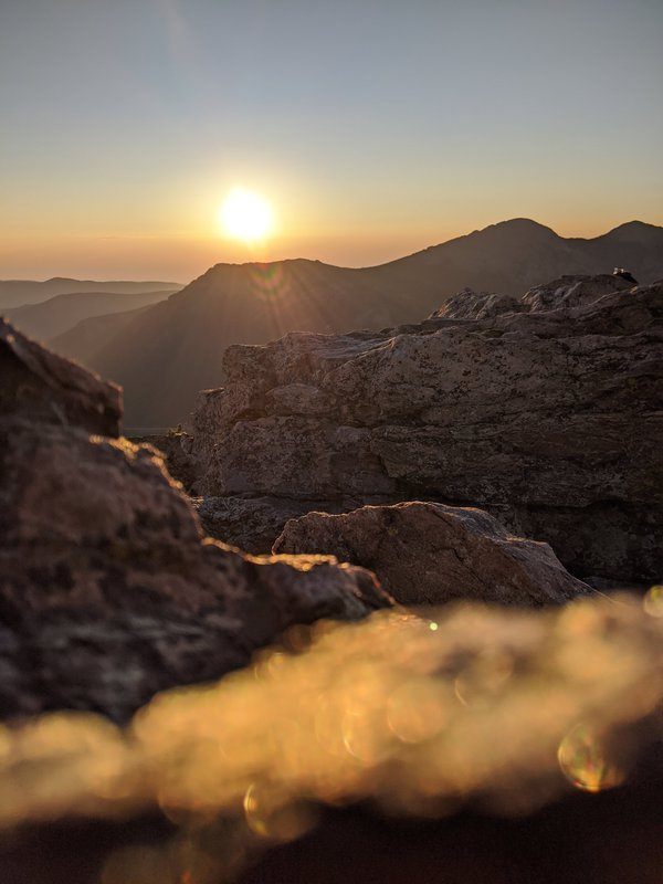 Estes Cone Sunrise in Rocky Muntain National Park thumbnail