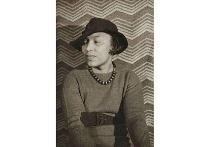Zora Neale Hurston by Carl Van Vechten, Noble Black Women: The Harlem Renaissance and After,1935, printed 1983