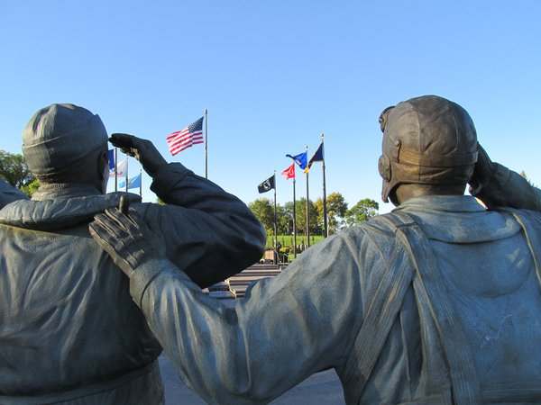 Paying respect to the flag. thumbnail