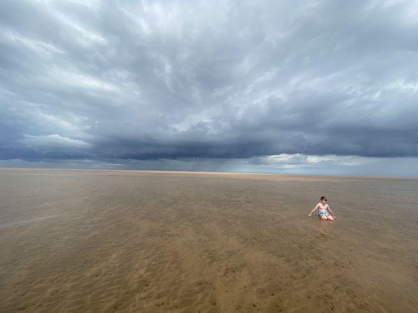 English summer on a quiet beach  thumbnail