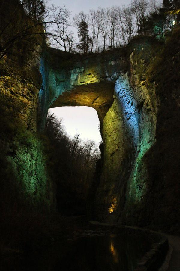 Lights on the Natural Bridge thumbnail