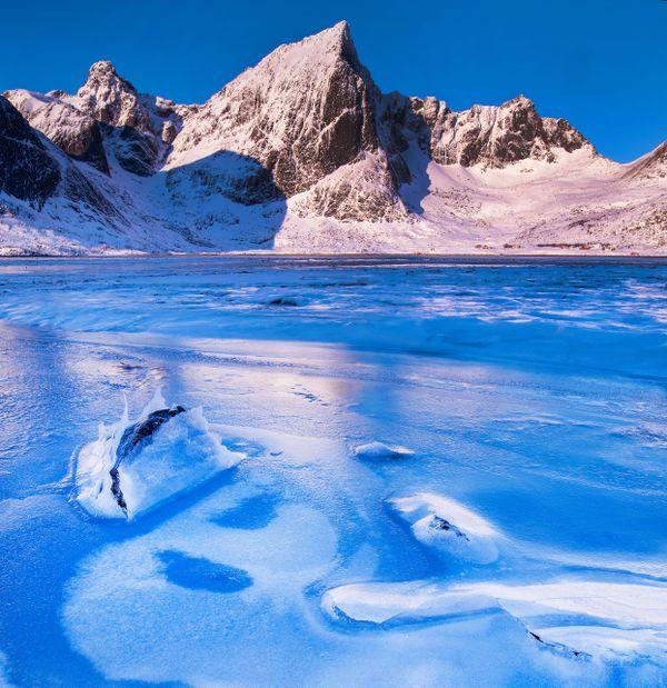 Broken Ice at Flakstadpollen, Lofoten, Norway thumbnail
