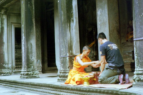 A monk and a blessing. thumbnail