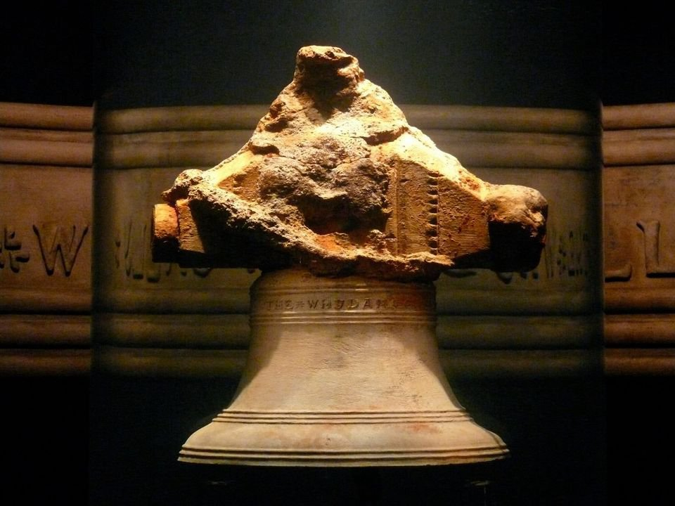 Bell recovered from the wreck of the pirate ship