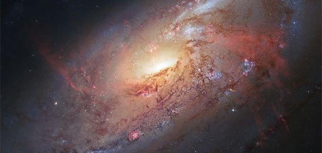 Galaxy M106′s spiral arms.