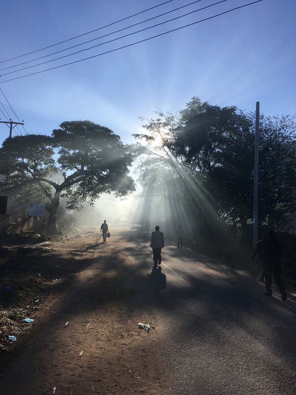People going to work, early morning, Blantyre, Malawi thumbnail