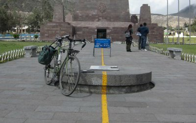 About 15 miles north of Quito, a yellow line representing the Equator runs up a long, regal walkway to the base of the Mitad del Mundo monument, built in 1979. The thing is, they built the structure several hundred feet south of the true Equator.