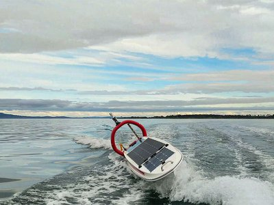 Daphne, an autonomous solar-powered vessel developed by British Columbia–based Open Ocean Robotics, is part of a wave of new ocean robots designed to police illegal fishing.