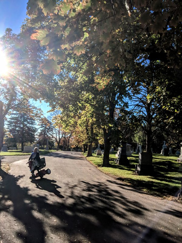 Extreme scooting in a quiet cemetery. thumbnail
