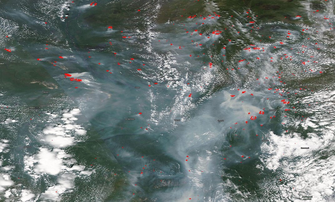 The Far-Reaching Consequences of Siberia's Climate-Change-Driven Wildfires
