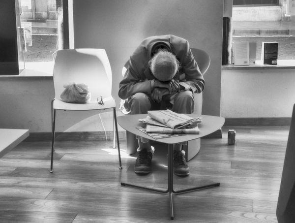 Lonely man, Biblioteca civica, Udine, 2018. thumbnail
