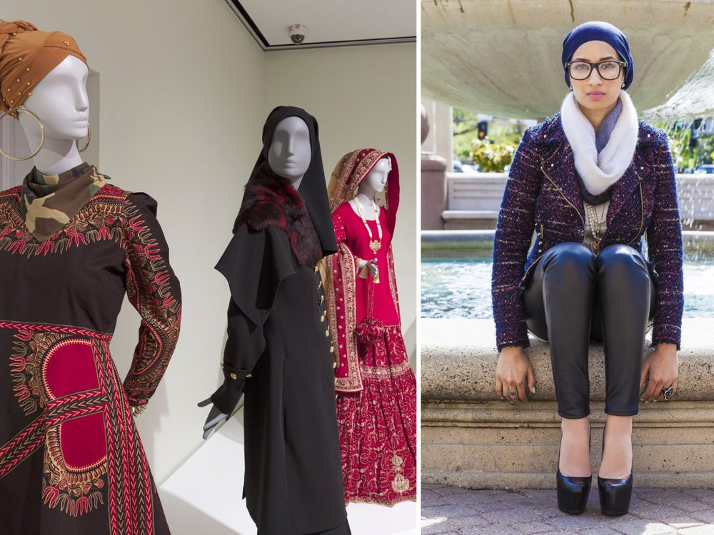 Saba Ali, right, and Contemporary Muslim Fashions on view at Cooper Hewitt, Smithsonian Design Museum