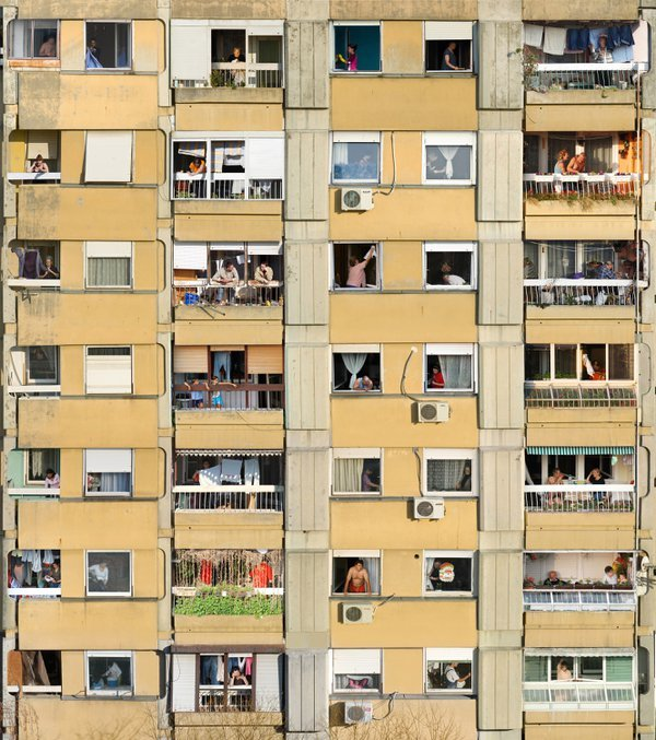 During 2 year period (2008-2010) I was shooting every day activities of my neighbors. The idea was to show diversity of ordinary life and old socialistic building which I saw as some kind of prison. thumbnail