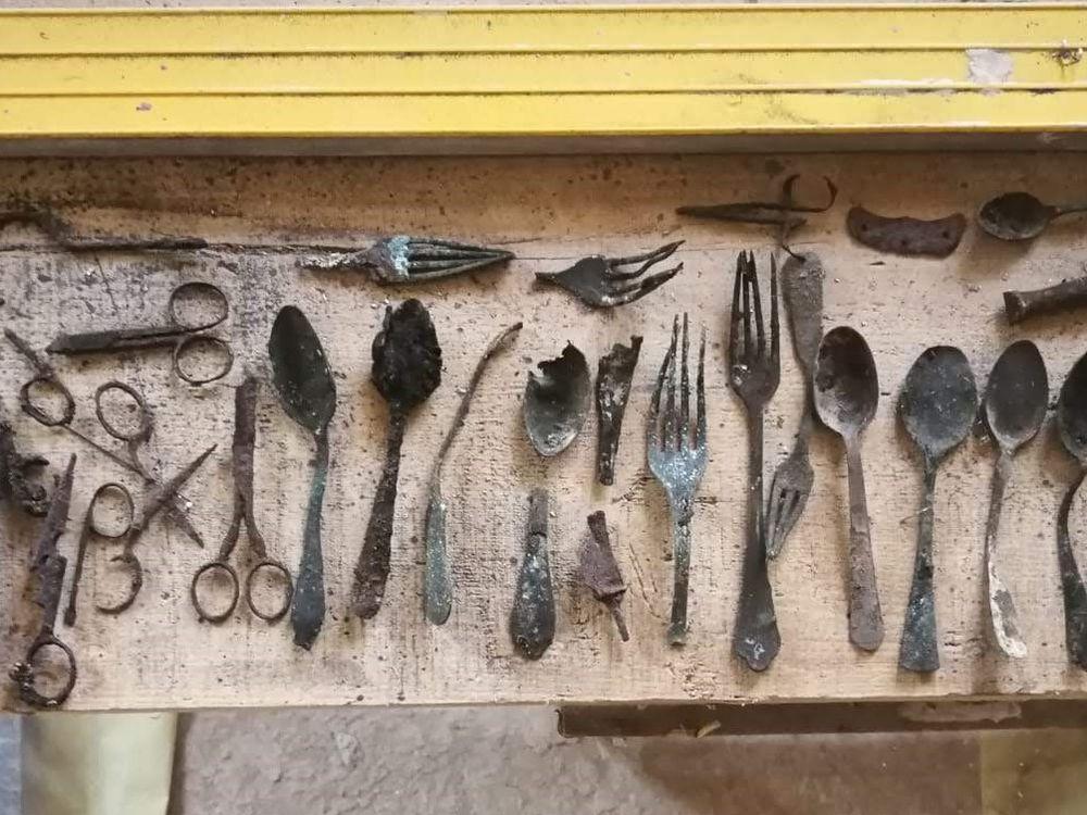 Cache of tools found at Auschwitz