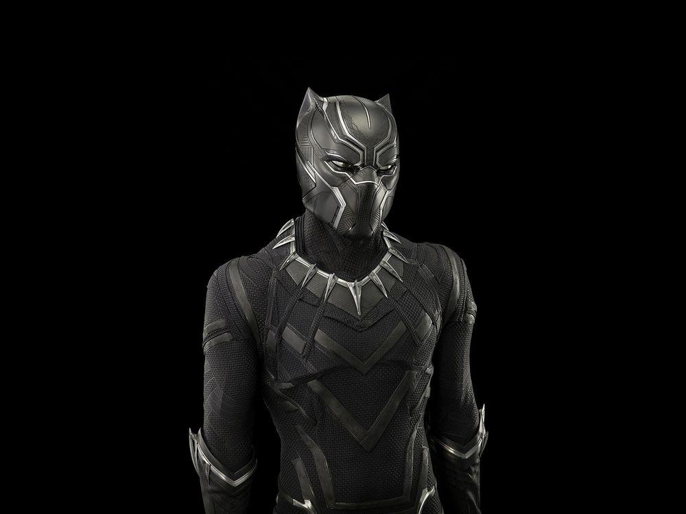 Black Panther costume worn by Chadwick Boseman