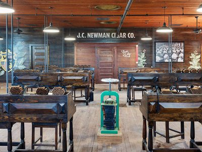 Just over 150 employees handcraft 12 million cigars a year from the historic J.C. Newman Cigar Company.