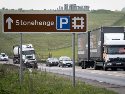 Archaeologists are conducting excavations ahead of a controversial tunnel plan set to move this highway, the busy A303, underground.