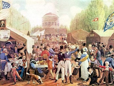 Independence Day Celebration in Centre Square by John Lewis Krimmel (1787–1821)