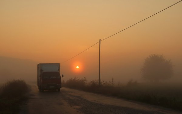 Sunrise and fog thumbnail