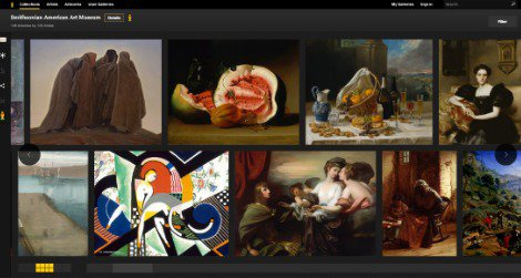 As part of the Google Art Project, you can now virtually wander the halls of the American Art Museum and see remarkably detailed reproductions of hundreds of works
