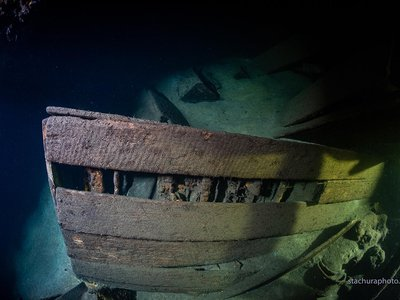 Researchers say the sunken ship may hold panels from Russia's famed Amber Room, which went missing during World War II.