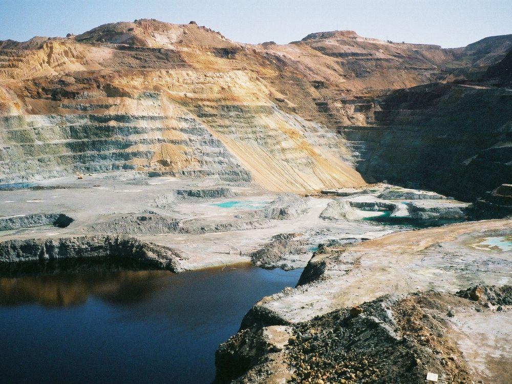 A copper mine in Cyprus