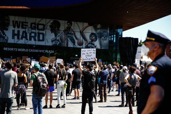Black Lives Matter, Barclays Center, Brooklyn, NY thumbnail
