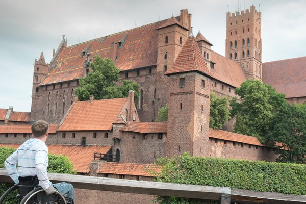 The castle of the Teutonic knights of the 13th century in Malbork. Poland thumbnail