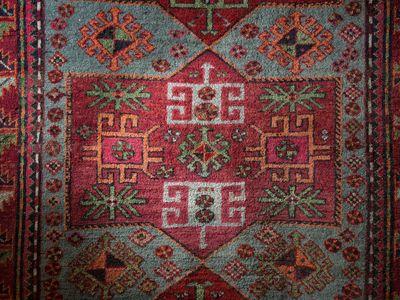 Syunik-Artsakh rug from the collection of the Local Lore Museum of Goris, 20th century.  (Photo by Areg Balayan, My Armenia Program)