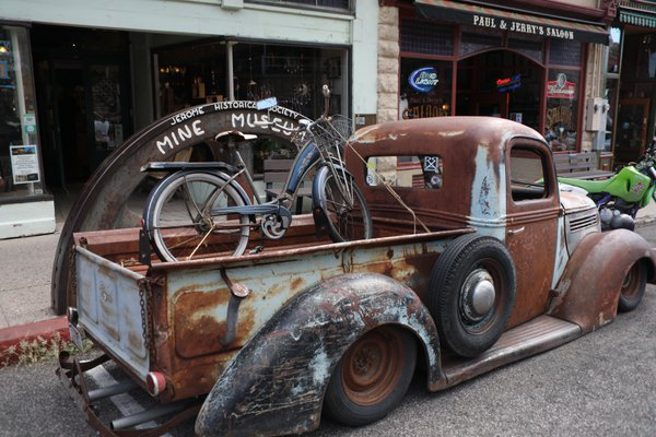 Antique pickup truck in Jerome, Arizona thumbnail