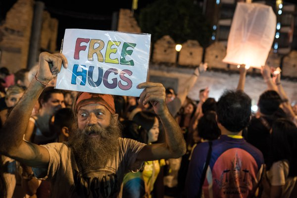 FREE HUGS FOR NEW YEAR AT CHIANG MAI thumbnail