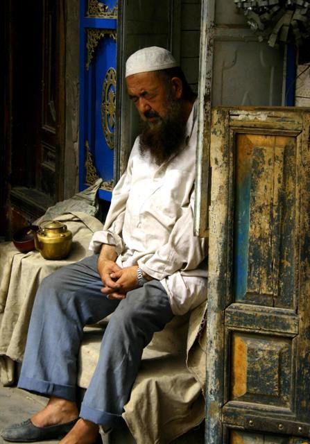 Sleeping Uyghur Man, Kashgar China thumbnail
