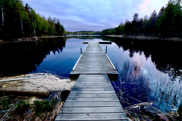 A lonely jetty on a calm evening thumbnail