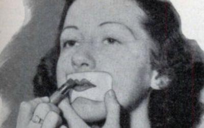 Lipstick stencil, 1920s