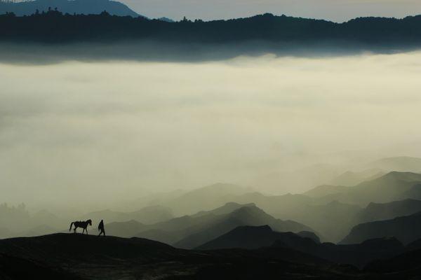 A Tengger Horseman on Mount Bromo thumbnail