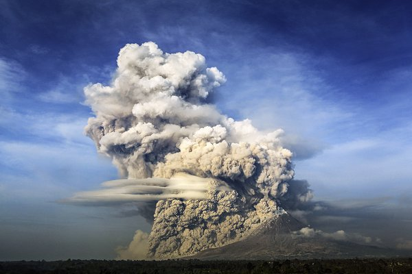 Mount Sinabung Eruption, an erupted volcano in North Sumatera, Indonesia thumbnail