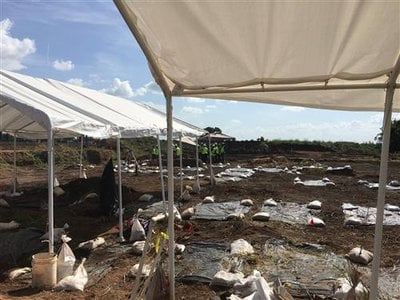 The historic cemetery where remains of 95 individuals, believed to be African American prisoners forced to work on a plantation, were discovered.