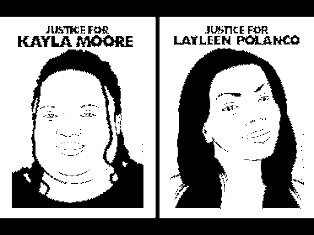 Oree Originol, Justice for Kayla Moore and Justice for Layleen Polanco, from Justice for Our Lives, 2014-2020, 78 digital images, Smithsonian American Art Museum, Museum purchase through the Patricia Tobacco Forrester Endowment, 2020.51A-MM, © 2014, Oree Originol.