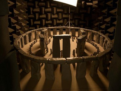 A scale model of Stonehenge used to test the ancient monument's acoustics